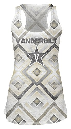 Vanderbilt Womens White Tank Top (NCAA Vanderbilt Commodores Women's Sublimated Burnout Tank Top, Small,)