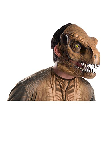 Rubie's Men's Standard Tyrannosaurus Rex Movable Jaw Adult Mask, Multi, Standard