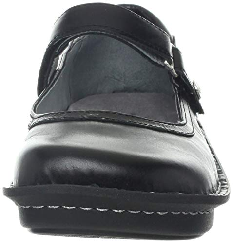 Pictures of Alegria Women's Belle Mary Jane Flat Black Crinkle 35 M EU 5
