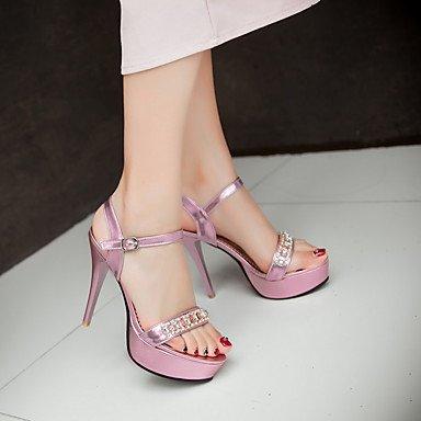 LFNLYX Sandalias mujer Primavera Verano Otoño otros PU Parte & vestido de noche casual Stiletto talón plata oro rosa Otros Otros Pink