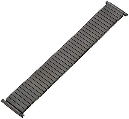 (Hadley Roma MB8008RASQ 24 Black Metal Watch Band)