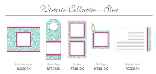 Three Designing Women - Wisteria Collection Blue Hanging Gift Tags - 6 tags (Collection Wisteria)