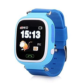 Reloj con GPS + WiFi y Llamadas Wonlex GW100 Original Azul. Pulsera localizador para niños con GPS