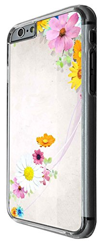 1439 - Cool Fun Trendy cute shabby chic flowers roses daisy flora wallpaper Design iphone 6 6S 4.7'' Coque Fashion Trend Case Coque Protection Cover plastique et métal - Clear