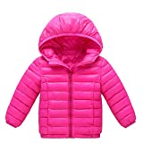 Little Kids Winter Warm Coat,Jchen(TM) Clearance! Baby Kids Little Boy Girl Autumn Winter Down Jacket Coat Hooded Zipper Keep Warm Children Outwear for 1-8 Years Old (Age: 4-5 Years Old, Hot Pink)