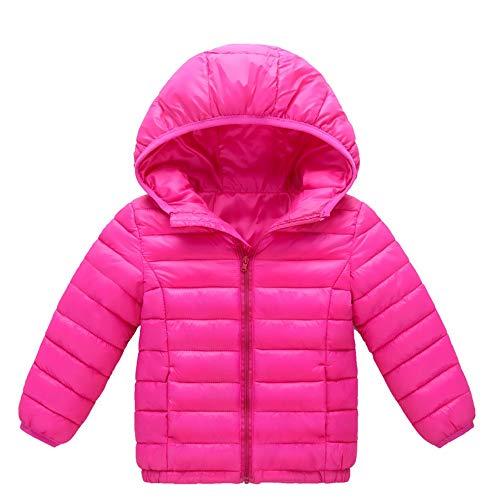 Franterd Little Girls Boyd Light Down Jacket, Kids Windproof Zipper Cable Hooded Coat Winter Warm Snowsuit ()