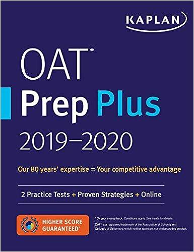 oat prep plus 20192020 2 practice tests proven strategies online