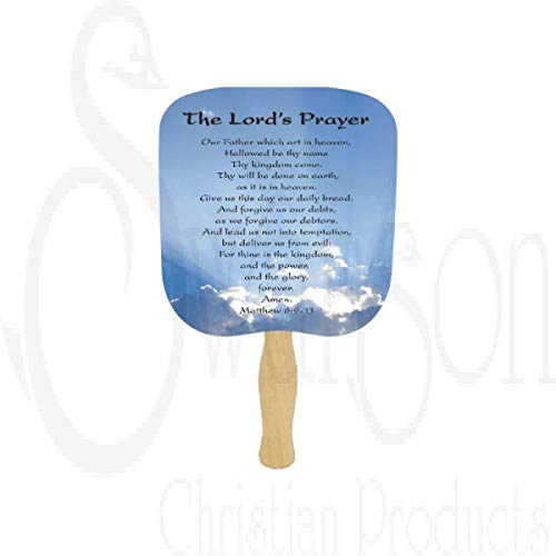 Swanson Christian Parlor and Church Hand Fan - Traditional Style - The Lord's Prayer (25) by Swanson Christian