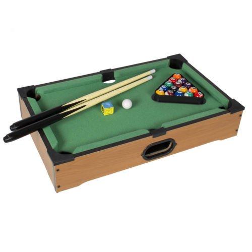 "GHP Table Top Mini Pool Table Game Set - 20""(L) × 12.25"" (W) × 4"" (H)"