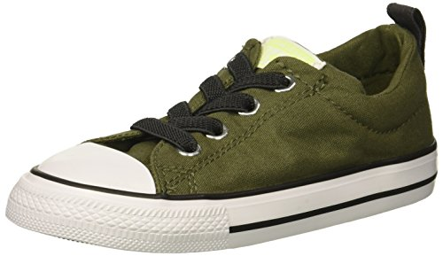 Converse Boys' Chuck Taylor All Star Street Sneaker, Hunter Green/White, 4 M US Big ()