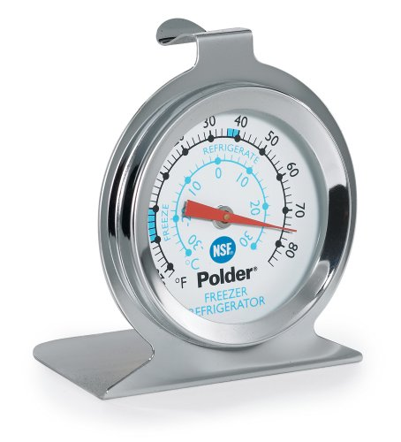 Polder THM-560N Fridge/Freezer Thermometer, Stainless Steel