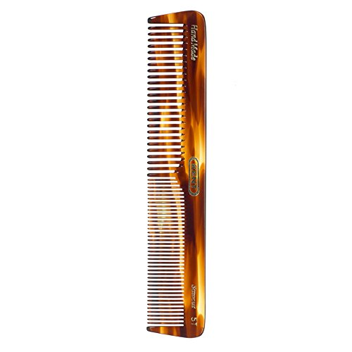 Kent Brushes  Handmade Comb  A 5T  Medium Size Coarse and Fine Comb for...