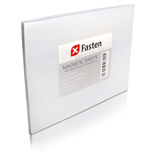 XFasten Magnetic Sheets 8x10 Inch 20mil (Set of 10)