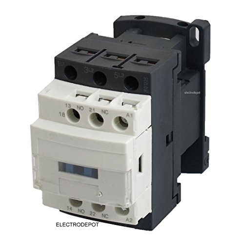 30 Amp 3 Pole Contactor 120V Coil Lighting 32Amp AC1, Motor 18Amp AC3, 600V, Aux Contact NO NC