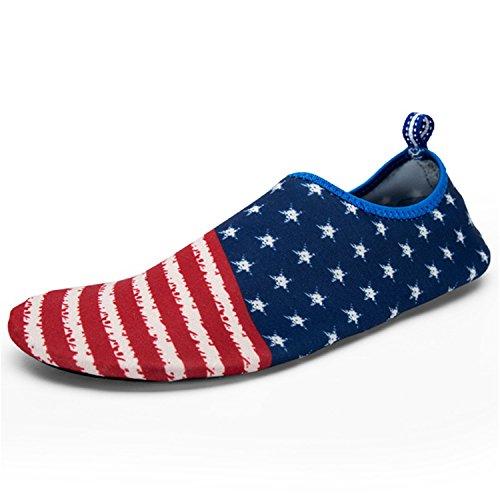 Adults Schuhe Red Shoes Beach Shoes Unisex Athletic Renxingli Skin Quick RENXINGLI Pool Barefoot Water water shoes Drying Aqua Socks xHqBFzvw