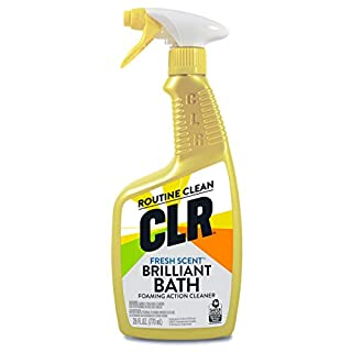 CLR Brilliant Bath, Fresh Scent Foaming Action Cleaner, 26 Ounce Spray Bottle (Pack of 4)
