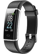Lintelek Montre Connectée, Tracker d'Activité Cardiofréquencemètre avec Moniteur de Sommeil, Réveil, Notifications, Bluetooth Podomètre IP68 Etanche Montre GPS Connectée pour Femme Homme