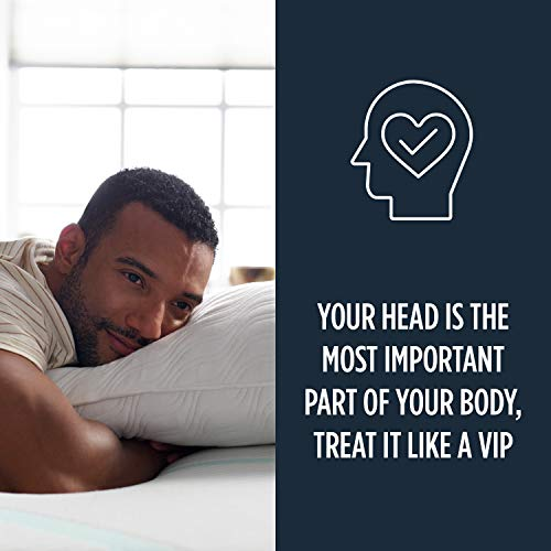 Tempur-Pedic TEMPUR-Travel Neck Pillow, Soft Support, Pressure Relief, Adaptable Comfort Washable Cover, Assembled in the USA, 5 YR Warranty, Navy
