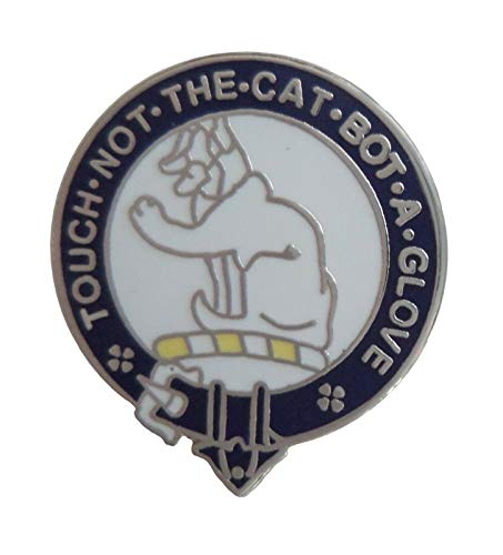 1000 Flags Limited Macpherson Touch Not The Cat Bot A Glove Scottish Clan Name Crest Enamel and Metal Pin Badge