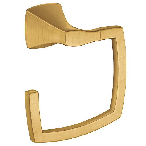 Collection Towel Ring - Moen YB5186BG Voss Collection Bathroom Towel Ring, Brushed Gold