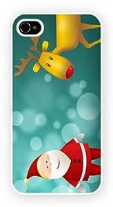Christmas Santa And Rudolf 2 Cell Phone Funda Para Móvil Case Cover for iPhone 5 / 5s
