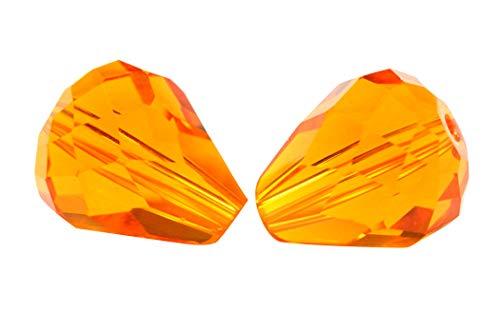 - 24pcs 8x6mm Adabele Austrian Teardrop Crystal Beads Sun Compatible with 5500 Swarovski Crystals Preciosa SST-812