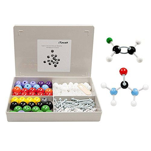 Lab Molecular Model (Organic Chemistry Biology Molecular Model Kit Toys, iTavah Inorganic Biology Molecular Atoms Model Set for Student Teacher College School Lab (86 Atoms & 153 Bonds) 239 Pieces)