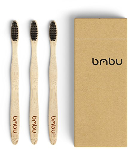 Bamboo Toothbrush Multi-Pack Made with Activated Charcoal Infused Bristles (Medium / Soft) – Natural, BPA Free, Eco-Friendly, Sustainably Grown Toothbrushes in Recycled Biodegradable Packaging