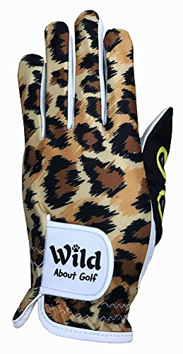 Golf Print Gloves - Giggle Golf Wild About Golf Women's Golf Glove (Medium, Worn On Left Hand)