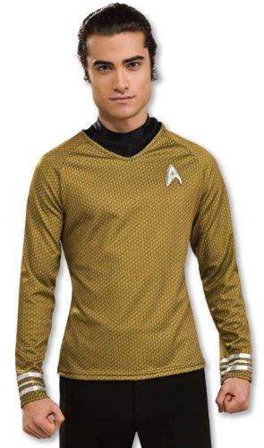 Track Star Halloween Costume (Star Trek Movie Grand Heritage Gold Shirt, Adult Large Costume)
