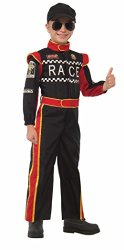 [Forum Novelties Kids Race Car Driver Costume, Multicolor, Large] (Red Jumpsuit Costume)