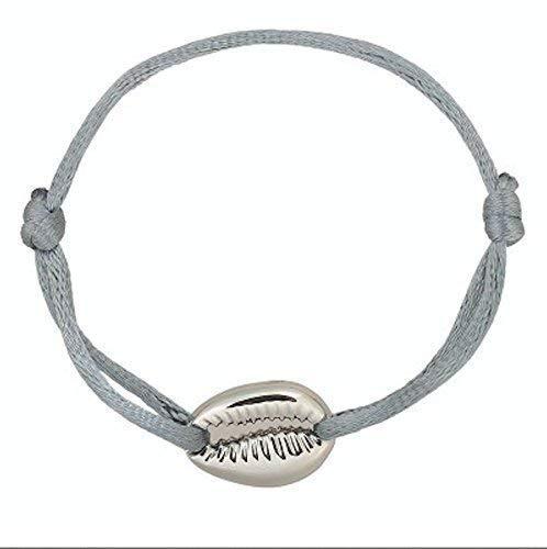 site réputé 66cd8 9e406 Bracelet Coquillage Cauris Doré ou Argenté sur Cordon ...