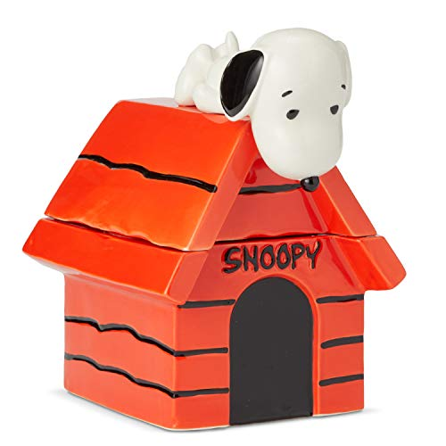 Enesco 6004161 Peanuts Snoopy on Dog House Cookie Jar 10