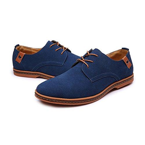 stringate grandi da dimensioni casual casual Mocassini di Dimensione Colore Vestito EU Marrone casual uomo formale Blu microfibra in stringate Tufanyu tomaia scarpe pelle 48 o EYqOw66