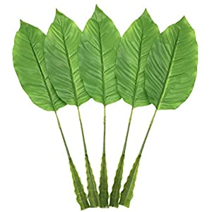 PinnacleT1 Large Artificial Tropical Leaf - Artificial Bird of Paradise Leaves for Floral Arrangement,Fake Artificial Leaf for Home Kitchen Party Decorations 71