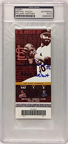 Michael Wacha Autographed Signed Baseball MLB Debut Ticket PSA