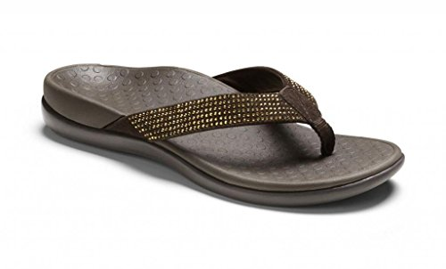 Vionic Womens Tiders Sandal Dark Brown Size 11