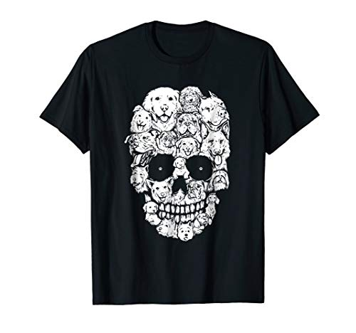Skull Dogs Shirts Funny Halloween Dog Lovers -
