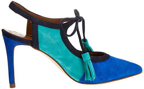 Femme 18346 MIRALLES PEDRO Bout Escarpins Bluette Bleu Fermé x7OwXHn