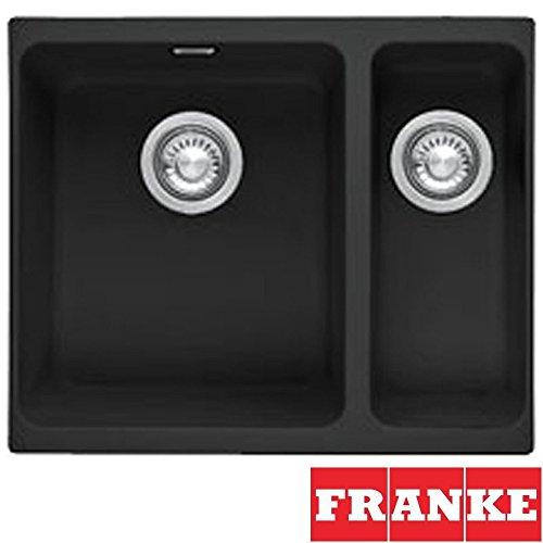 Franke Kubus 1.5 Bowl Granite Onyx Black Undermount Kitchen Sink KBG160