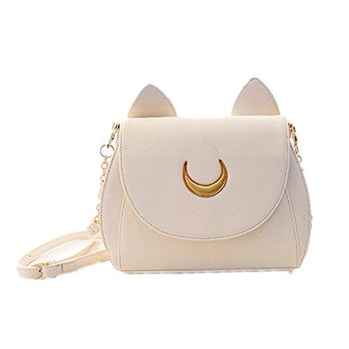 MIUNIKO Women's Cosplay Sailor moon Tsukino Usagi PU leather Handbag Shoulder Bag, White by MIUNIKO