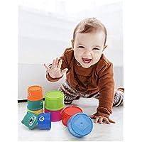BABY-TOYS Juguete para el Baño, Jugar con Arena.Mi Primer Juego de Tazas Apilables con Numeros, Divertidos Colores. Juguete para el Baño .Bebés y Edad Preescolar.