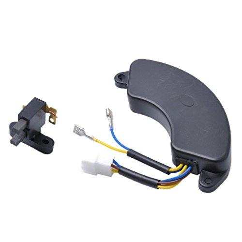 Homyl 5KW AVR Automatic Voltage Regulator Rectifier & Carbon Brush for Gasoline Generator Black