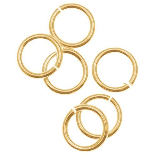 50 pcs Wholesale 8mm Open Jump Rings 14k Gold-Filled 18 gauge Heavy Duty by BeadWholesaler