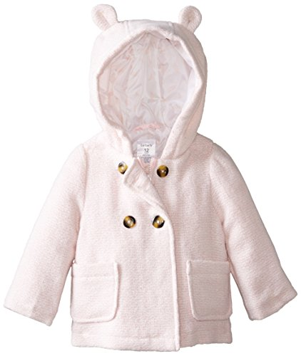 Carter's Baby-Girls Infant Two Toned Faux Wool Jacket, Light Pink, 24 Months