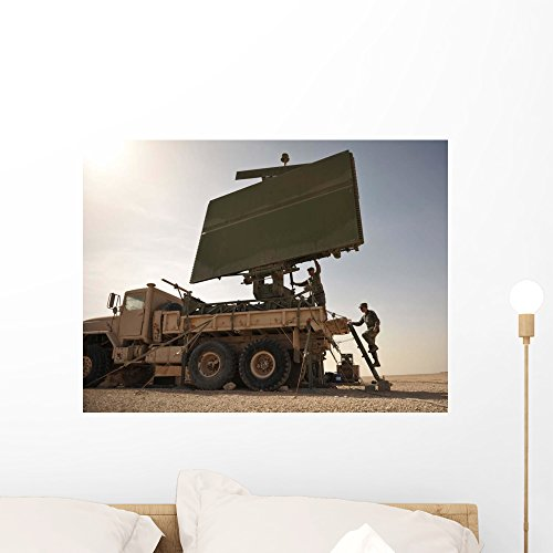 Tps-75 Radar Mounted Military Wall Mural by Wallmonkeys Peel and Stick Graphic (24 in W x 18 in H) WM149140