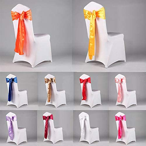 Apple Green Set of 10 Chair Decorative Satin Sashes Bow Designed for Wedding Events Banquet Home Kitchen Decoration