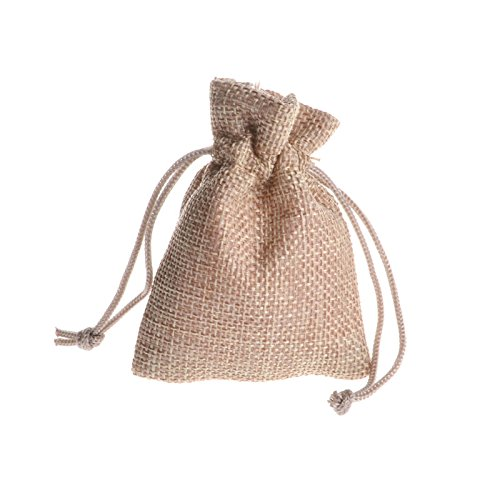 Mini Burlap Bags (Yalulu 2.8x3.5inch 50 Pack Mini Natural Jute Burlap Gift Bag with Nylon Drawstring for Arts & Crafts Projects, Gift Packaging, Snacks & Jewelry)