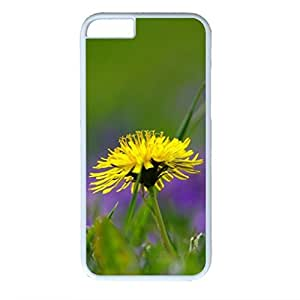 Green Plant Design PC White Case for Iphone 6 Yellow Flower