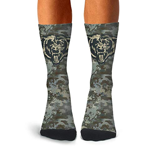Mens Army Camo Fashion Athletic Crew Cotton Tube Long Boat Sockings Cold ()